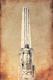 Angel on obelisk Royalty Free Stock Image