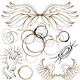 Angel Object Set. An image of an angel object set Royalty Free Stock Photos