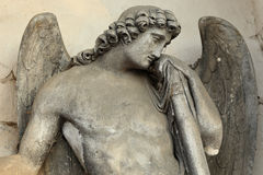The Angel from the old Prague Cemetery Royalty Free Stock Photo