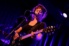Angel Olsen (folk and indie rock singer and guitarist) performs at Apolo venue Royalty Free Stock Photos
