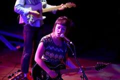 Angel Olsen (folk and indie rock singer and guitarist raised in Missouri) in concert at Heineken Primavera Sound 2014 Stock Photo