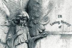 Free Angel On Blank Headstone Royalty Free Stock Photography - 32025647