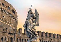 Angel On Guard Of Rome Stock Photo