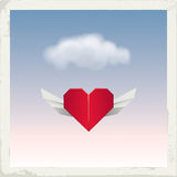 Angel Origami Heart Stock Photography
