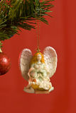Angel Ornament Hanging On Tree Royalty Free Stock Photos