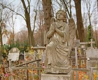 Angel on an orthodox cemetery Royalty Free Stock Photo
