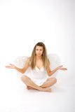 Angel With Outstretched Arms Stock Photo