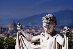 Angel over Florence Royalty Free Stock Photos