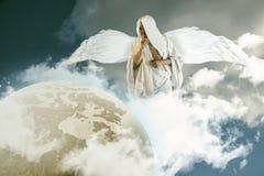 Angel Over Planet Earth Imagen de archivo libre de regalías