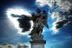 Angel over the Ponte Sant'Angelo (Rome) Royalty Free Stock Photography
