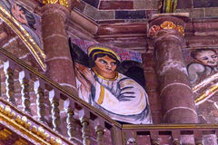 Angel Painting Parroquia Church San Miguel de Allende Mexico Royalty Free Stock Photography