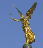 The angel of peace in Bavaria. The golden angel of peace Friedensengel of Munich in Bavaria Royalty Free Stock Photos