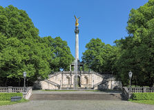 Angel of Peace monument in Munich, Germany. The foundation stone was laid in 1896 to commemorate the 25 peaceful years after the Franco-German war of 1870-1871 Stock Photography