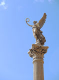 The Angel of Peace. A sculpture of the angel of peace on a roman pillar Stock Image
