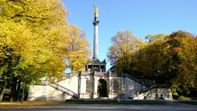 Angel of peace statue in munich stock video footage