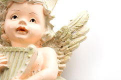 Angel play music. For christmas layouts Royalty Free Stock Photos