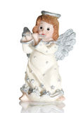 Angel playing on a flute Royalty Free Stock Photos
