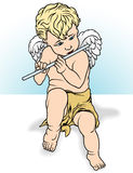 Angel Playing a Flute Royalty Free Stock Photo