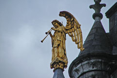 Angel Playing on Trumpets Royalty Free Stock Images