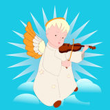 Angel playing the violin Stock Photography