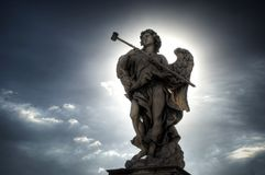 Angel on Ponte Sant'Angelo in Rome Stock Photo