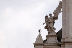 Angel on the portal of Sant Andrea della Valle Church in Rome Royalty Free Stock Image