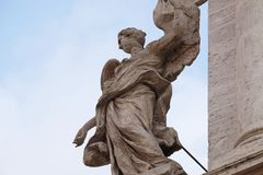 Angel on the portal of Sant Andrea della Valle Church in Rome Stock Photography