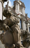 Angel from Prague - baroque Trinity column Stock Photo