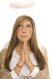Angel pray Stock Images
