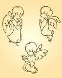 Angel Pray Sketch Stock Images
