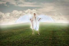 Angel Praying aan God royalty-vrije stock fotografie