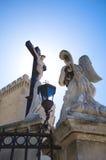 Angel praying christ Stock Photos
