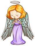 An angel praying Stock Image
