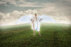 Angel Praying to God Royalty Free Stock Photography