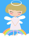 Angel and rainbow Royalty Free Stock Images