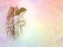 Angel on rainbow background
