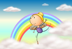 An angel in the rainbow Stock Photos
