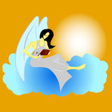 Angel Reading a Book Royalty Free Stock Photos