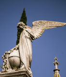 Angel in recoleta cemetery Stock Images