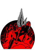 Angel red. People love illustration vector Royalty Free Stock Photo