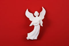 Angel on Red Stock Photos