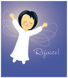 Angel Rejoicing. Illustration of a rejoicing Angel in the sky Stock Image