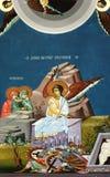 Angel in religious fresco. Religious fresco from Serbian Orthodox Monastery royalty free stock images