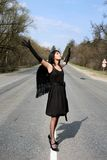 Angel in the road Royalty Free Stock Photography