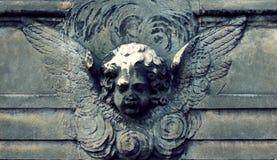 Angel rock. On wall Stock Photo
