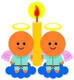 Angel's candle Royalty Free Stock Photos