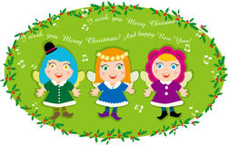 Angel's Christmas Carol. Illustration of Angel's Christmas Carol Royalty Free Stock Photography