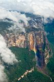 Angel's Falls. Worlds highest waterfall, Angels Falls from Venezuela stock photo