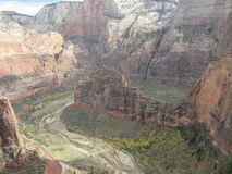 The Angel`s Landing Hiking Path, Zion National Park, Utah Stock Images
