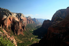 Angel's Landing Summit View Royalty Free Stock Photography